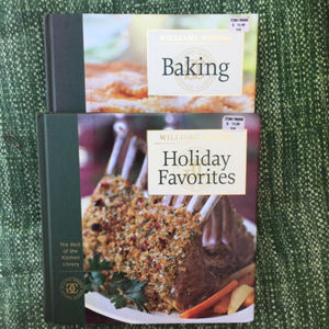 Two cooking books from Williams-Sonoma